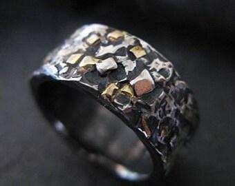 Mosaic Ring Viking Wedding Ring Mens Wedding Band Mens Wedding Bands Rustic Mens Wedding Ring Unique Mens Wedding Band Mens Wedding Rings