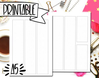 Blank Dot Grid Split Weekend Undated A5 Planner Printable - Weekly Planner Printable - Bullet Journal Printable - Printable Weekly Insert