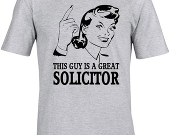 Solicitor Lawyer Mens T-Shirt Gift Idea Unique Design Job T-Shirt Funny Great Gift T-Shirt