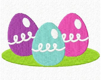 3 Eggs Embroidery Design - Instant Download