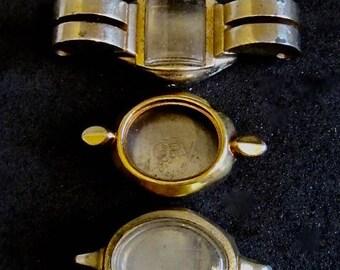 Vintage  Watch parts - watch Cases -  Steampunk - Scrapbooking f68