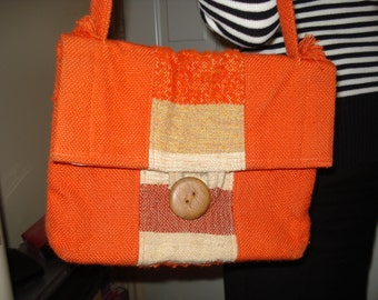 Hand woven purse, completely hand made, one of a kind