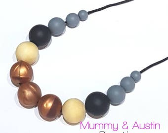 Teething Necklace Breastfeeding Jewellery New Mum Gift Chewelry Silicone Necklace Teething Nursing Aid Baby Wearing BPA Free