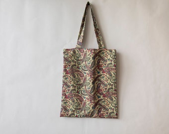 Cotton print in shades of Burgundy cashmere spirit Tote Bag