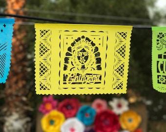 Papel Picado Banner CHINGONA - feminist gift, graduation party decoration, retirement