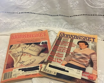 July & October 1983 issues of The Workbasket home arts magazine. Notice the male model !