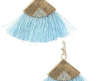 tassel earrings matte finish