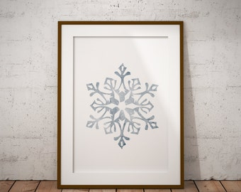 snowflake print,  christmas print, lds print, christmas decor, home decor, instant download, digital download, holiday decor
