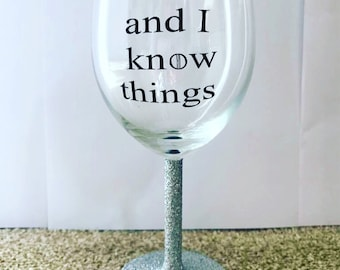 Game Of Thrones Glitter Wine Glass
