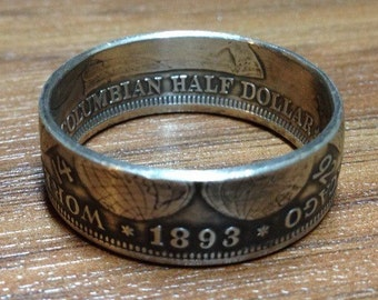Columbian Exposition Worlds Fair Chicago Half Dollar CoinRing