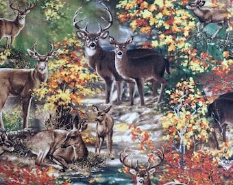 Wildlife Deer in the Woods Timeless Treasures #6424 By the Yard