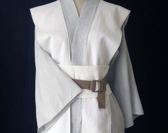Star Wars Jedi Inspired Couture Linen Tunic, Tabard and Obi- Made to Order