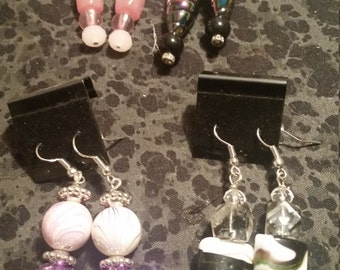 Hodge Podge Glass Bead Earrings - Pick Your Color