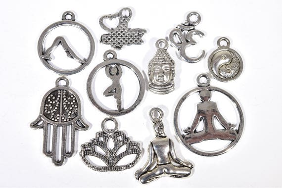 Yoga charm collection 10 meditation charms spiritual charms yoga charm collection 10 meditation charms spiritual charms yoga earring charms fitness charm yogi charm yoga pendants sc1827 from mozeypictures Images