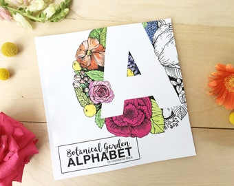 Botanical Garden Alphabet Coloring Book