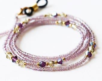 Swarovski Eyeglasses Chain, Eyeglass Holder Necklace, Reading Glasses Chain, Eyeglass Chain, Glass Cord, Glass Lanyard / 29 inch / EGH-1016