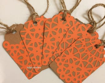 5 original unique tags - hang tags - blank gift tags - favor tags - merchandise tag - wedding favor tags