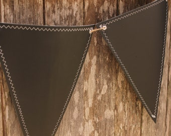 EXTRA LARGE Chalkboard  Fabric Banner, Pennant 15 Triangles, reversible, double-sided