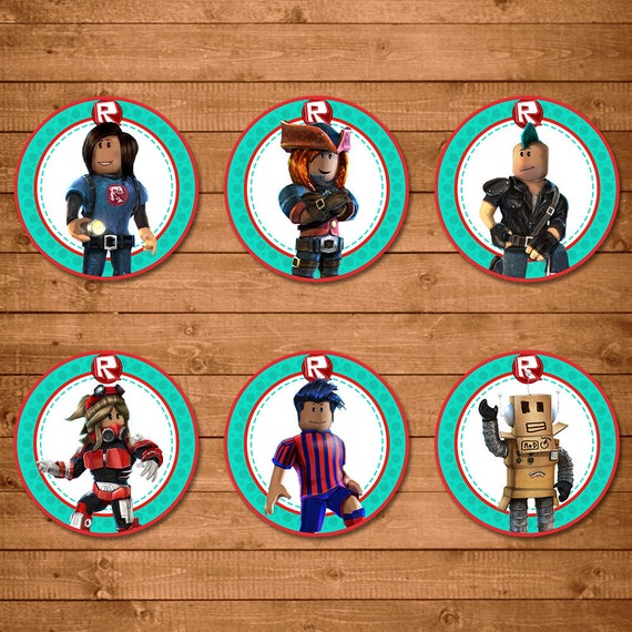 Roblox Cupcake Toppers - Roblox Stickers - Roblox Birthday Party Printable - Roblox Party Favors