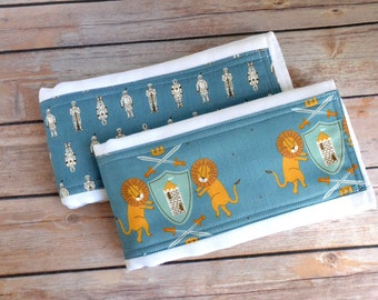 Royal Baby Cloth Diaper Burp Cloth Set, Little Prince Burpie Set,  Baby Boy Gift, Baby Shower Gift, Infant Gift, Chess Baby Gift, Knight