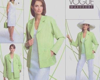 Womens Jacket, Top, Dress, Skirt & Pants OOP Vogue Sewing Pattern V2804 Size 8 10 12 Bust 31 1/2 to 34 UnCut Vogue Wardrobe Pattern