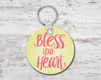 Bless Your Heart Round Keychain Key Chain