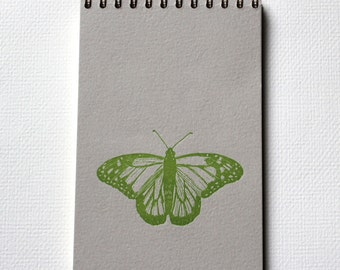 Butterfly Notebook - Letterpress Spiral Bound Notebooks