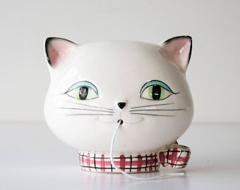 Vintage Mid-Century Holt Howard Ceramic Kozy Kitten - Cat String Dispenser