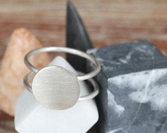 Circle silver ring