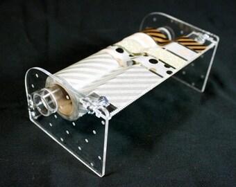 Handmade Acrylic Washi Tape Dispenser - Dainty Dot Design
