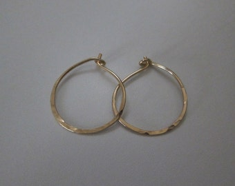 3/4 Inch Gold Hoop Earrings