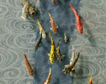 Koi Paper Sculpture - 'Stream of Consciousness' - Giclee Fine Art Print