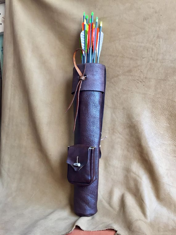 Leather Archery Shoulder Quiver