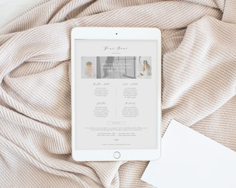 INSTANT DOWNLOAD! Pricing Guide Template for Photographers, Calligraphers, Florists, & Wedding Planners - Digital Marketing Templates
