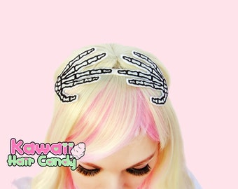 Halloween Headband - Headband For Women - Skeleton Hand Headband - Womens Gothic Clothing - Goth Headband - Gothic Headband - Adult Headband