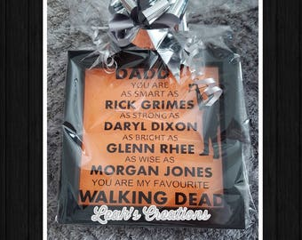 Fathers Day Gift Daddy Walking Dead Box Frame