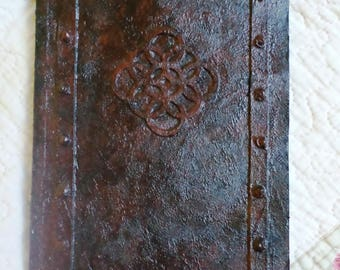 Medium notebook 56 pages rust effect decoration