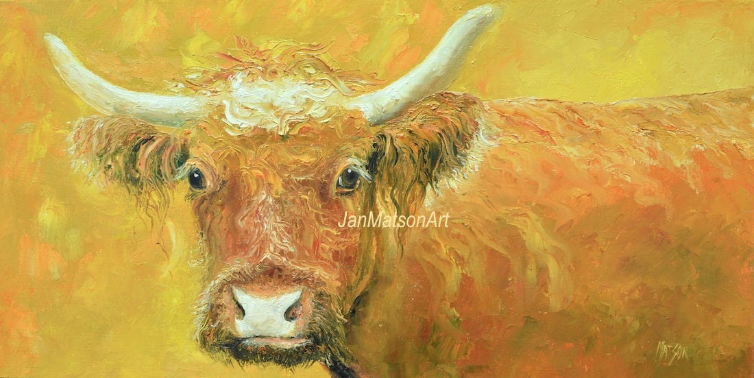 Cow painting Canvas Art Oil painting Animal Art Kitchen