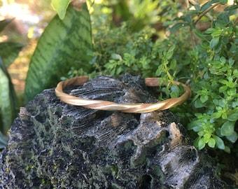 Spiral Twisted Brass Bangle Braclet