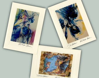Goddess -  Set of 3 Beautiful Original Goddess Blank Greeting Cards by Kathy Morton Stanion EBSQ