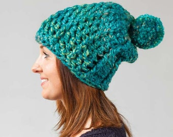 Slouchy Beanie Crochet Pattern Download (804025)