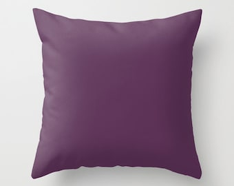 Japanese Violet Pillow, #5B3256, Solid Violet Pillow, Dark Purple Pillow, Purple Pillow, Purple Decor, Minimalist Decor, Minimalist Pillow