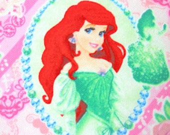 SALE 1M Disney princess fabric pink  color