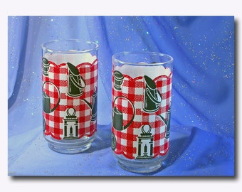 Pair of 1950's Water Tumblers by Libbey Glass