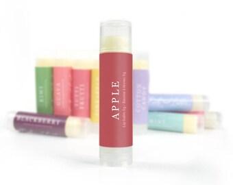 All Natural Lip Balm   Apple Lip Balm   Flavored Lip Balm, Natural Lip Care, Homemade Lip Balm, Beeswax Lip Balm