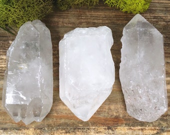 Raw Crystal Quartz Point  - Perfect for Healing Grids and wire wrap 342