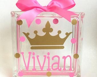 Kids Personalized Piggy Bank, Kids Piggy Bank, Custom Piggy Bank, Princess Piggy Bank, Piggybank, Princess Crown Piggy Bank
