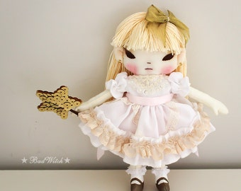 Handmade Rag Doll by BadWitch Cloth doll Art Doll Little Doll