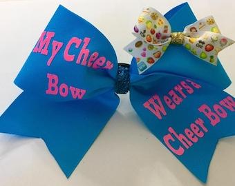 My Cheer Bow wears a Cheer Bow - Cheerleading Gifts