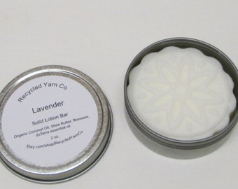 LAVENDER Solid Lotion Bar made with doTerra essential oil